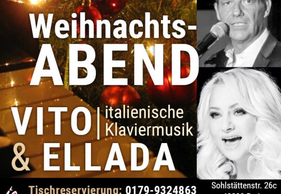 23 Dezember: Weihnachtsabend mit Vito & Ellada bei Tiflis Restaurant