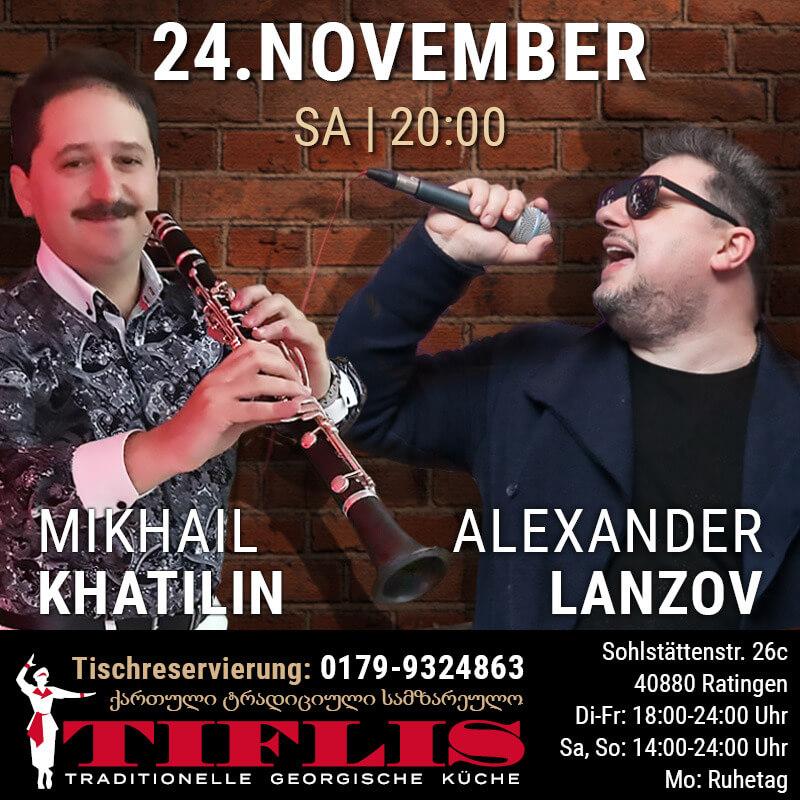 24 November: Authentische georgische Live Musik mit Khatilin & Lanzov